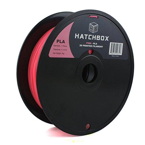 HATCHBOX PLA Filament für 3D Drucker - 1,75 mm pink 1 kg Spule - MakerBot RepRap MakerGear Ultimaker uvm.