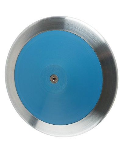 Optama Blue Track & Field 1.6 kg boys discus, Very popular 1.6k boys intermediate discus that is IAAF, NCAA & NHS Certified for all levels of competition, comes with 1 year warranty. by FIRESTEED SPORTS