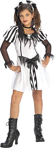 Girls Punky Pirate Kids Child Fancy Dress Party Halloween Costume, S (4-6)