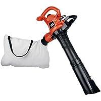 BLACK+DECKER 3-in-1 Electric Leaf Blower, Leaf Vacuum, Mulcher, 12-Amp (BV3600)