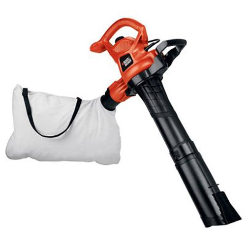 BLACK+DECKER 3-in-1 Electric Leaf Blower, Leaf Vacuum, Mulcher, 12-Amp (BV3600) ()