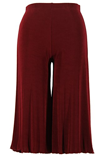 Jostar Women's Acetate Gaucho Pants X-Large Red