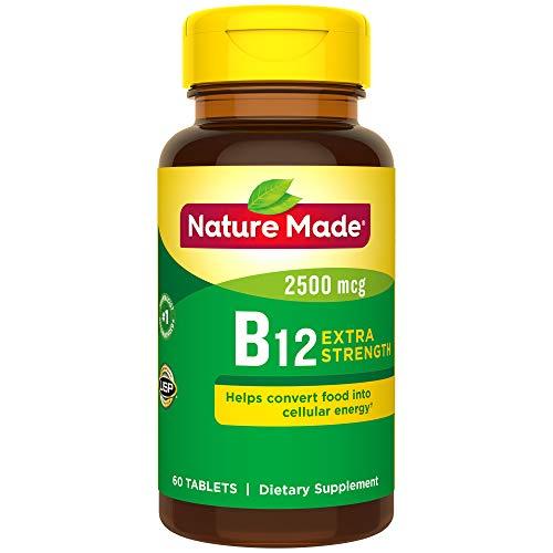 Nature Made Vitamin B12 2500 mcg. Tablets 60 Ct (Vitamin B-12 Tablet Vitamins)