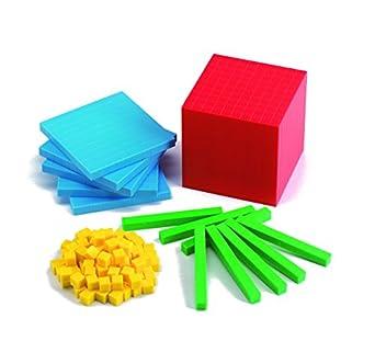 EDVANTAGE MATHEMATICS EDX PLASTIC BASE TEN 4 COLOUR ( EACH )