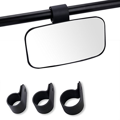 Moveland Side Rearview or Center Mirror for Universal UTV, Off Road Large Adjustrable Wide Rear Clear View (Vehicle Utv Utility)