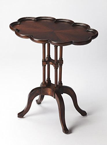 Specialty Coffee Butler - Butler Specialties Plantation Cherry Oval Accent Table - 1387024