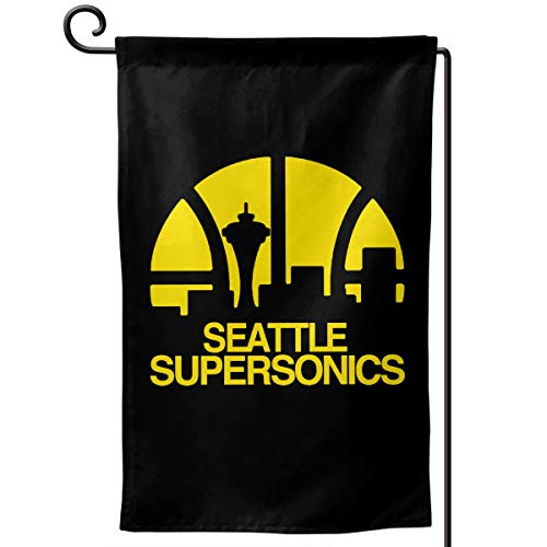 Garden Flag Seattle Supersonics Home Yard Holiday Flags Double Sided Decorative House Decor Flag