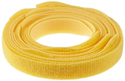 "Velcro Cable Tie, One wrap Strap, 3"" Bundle Diameter, 0.5"" Width, 12"" Length, Yellow"