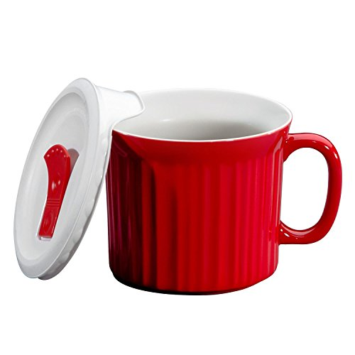 WORLD KITCHEN 1105118 20OZ RED Pop Ins Mug (Ins Mug Pop Oz 22)