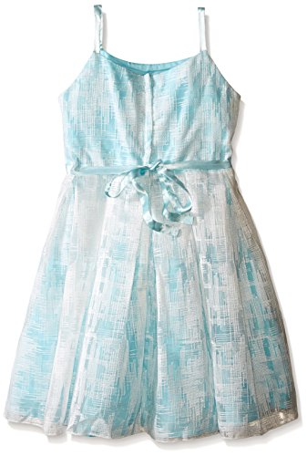 Biscotti Big Girls Tea Party Strappy Dress, Aqua, 7 by Biscotti (Image #2)