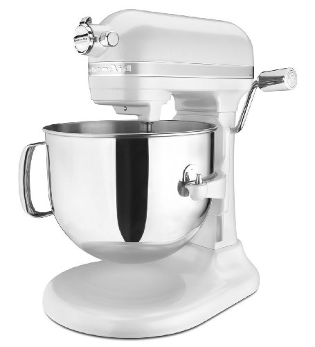 KitchenAid KSM7586PFP 7-Quart Pro Line Stand Mixer Frosted Pearl White