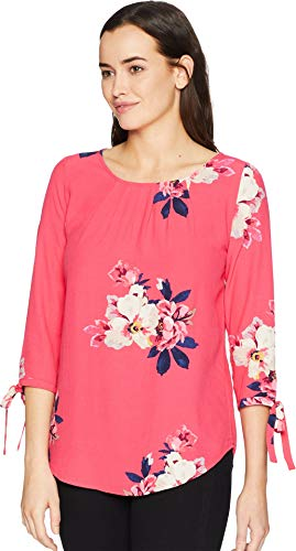 Con Print Trisha Raspberry Joules Manica Bloom Top Cravatta z Womens z1x5wt50q