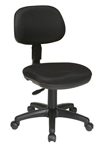 Office Star Molded Foam Seat and Back Armless Basic Task Chair, Black by Office Star