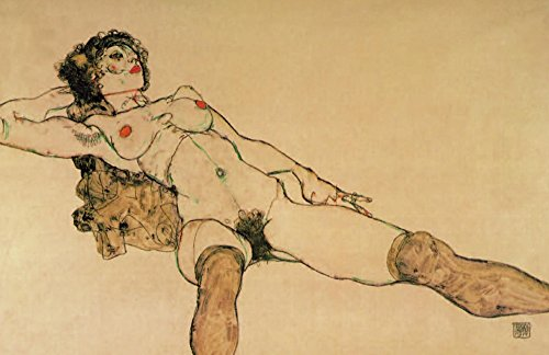 Reclining nude with legs spread apart 1914 Poster Print by Egon Schiele (18 x 24)