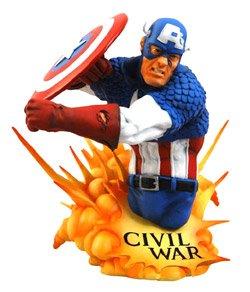 Marvel Universe: 'Civil War' Captain America Bust