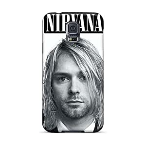 Shock-Absorbing Hard Phone Case For Samsung Galaxy S5 With Customized Colorful Nirvana Pictures SherriFakhry