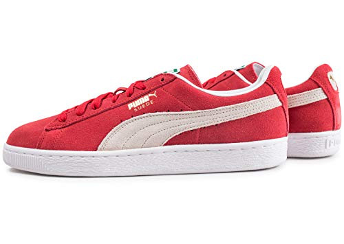 Classic Mode Baskets Or Suede Blanc Puma Plus Rouge Et Mixte Adulte OwF5q6I