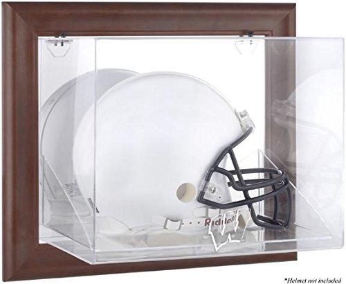 (Wisconsin Badgers Brown Framed Wall Mountable Helmet Display Case)