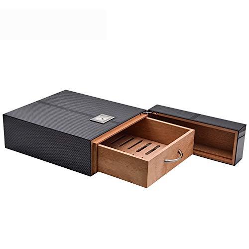 Cigar Humidors, Carbon Fiber Paper High Gloss Painted Cedar Wood Humidors Creative ()