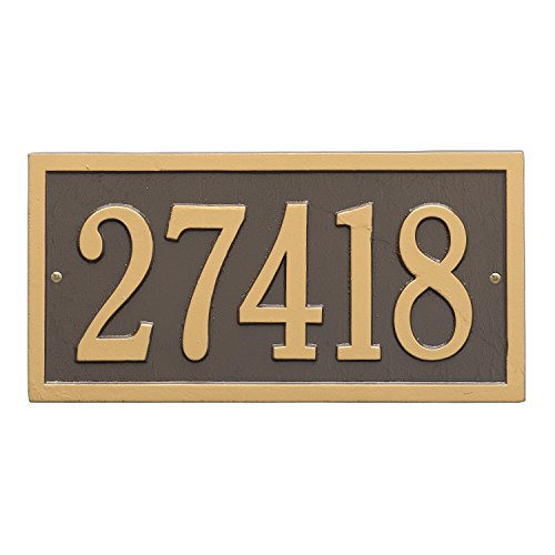 Bismark Address Plaque 14.75