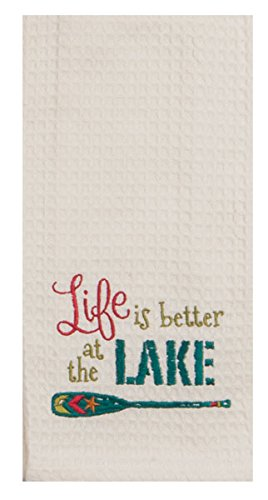 Kay Dee Designs Lake House Embroidered Kitchen Towels Set - Hand Towels with Boats and Paddles, Outdoor Camping Boating Dish Cloths by Kay Dee (Image #2)
