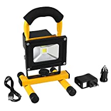 Stoog Rechargeable Waterproof IP65 Outdoor Floodlight Camping Lights Portable LED Work Lights (Yellow)