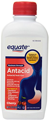 Strength Antacid Maximum (Equate Maximum Strength Antacid Cherry Liquid, 12 fl. oz.)