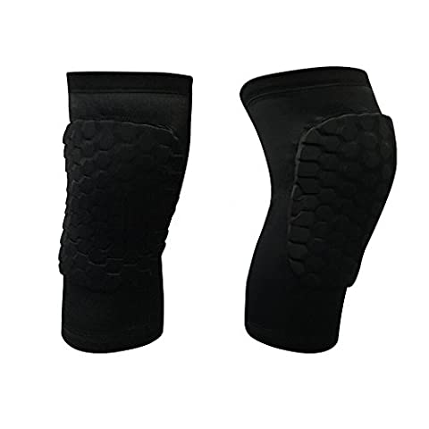 AceList 2 Packs (1 Pair) Protective Compression Wear - Men & Women Basketball Brace Support - Best to Immobilize, Strap & Wrap Knee for Volleyball, Football- Short Type - (Scratch Golf Game Gear)