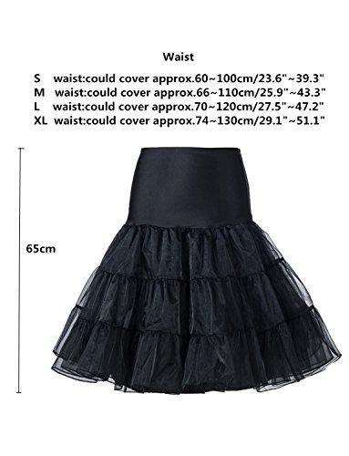 Femmes jupe pour BeiQianE Slips Bleu Underskirt Tutu demi jupon Crinoline noce Vintage Royal genou la 1950 Petticoat dxxwr47pYq