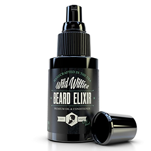 Wild Willies Cool Mint Beard Oil for Men - Made with 10 Natural Conditioner Ingredients and Organic Essential Oils to Provide Superior Performance, Promote Fast Growth & Restore Moisture. 2 (Cool Mountain Mint Tea)