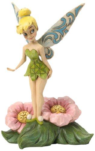 Disney Tinkerbell Flower - Jim Shore for Enesco Disney Traditions Tinker Bell Standing on Flower Figurine, 7.25-Inch