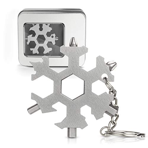 Snowflake Multi Tool 19-in-1 Stainless Steel Multitool Keychain Bottle Opener/Screwdriver/Portable