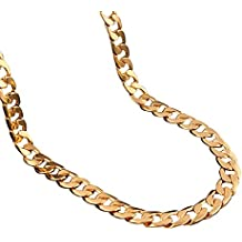 Adecco LLC 18K Gold Plated Men Chain Necklace Figaro Punk Style Jewelry,10mm