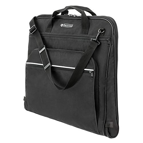 Large Carry on Garment Bags with Strap for Business Waterproof Hanging Suit Luggage Bag for Men Women Wrinkle Free Suitcase Cover for Shirts Dresses Coats Matein Travel Garment Bag Black
