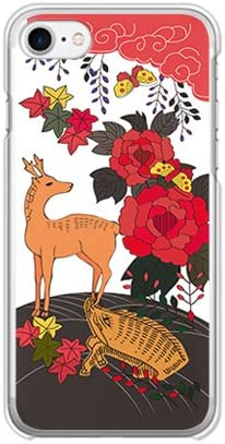 ガールズネオ apple iPhone 7 / iPhone 8 / iPhoneSE 第2世代 ケース (お花/花札《猪鹿蝶》) Apple iPhone7-PC-COM-1016