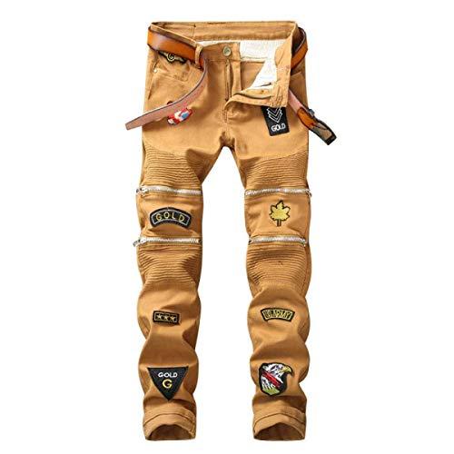 Cinturino Regular Fit Dritti Senza Slim Pantaloni 10 Di Jeans Uomo color Size Skinny Midi Giovane Stretch Da 33 np48XIqO