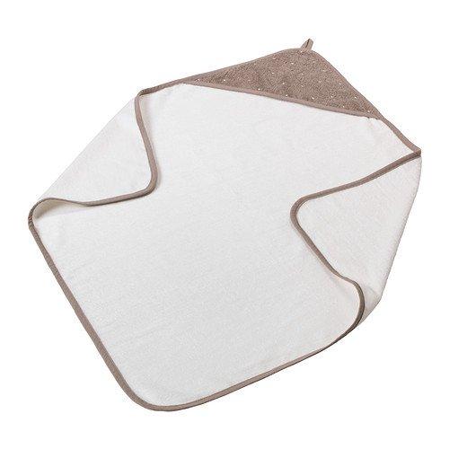 Ikea Baby towel with hood, white, beige