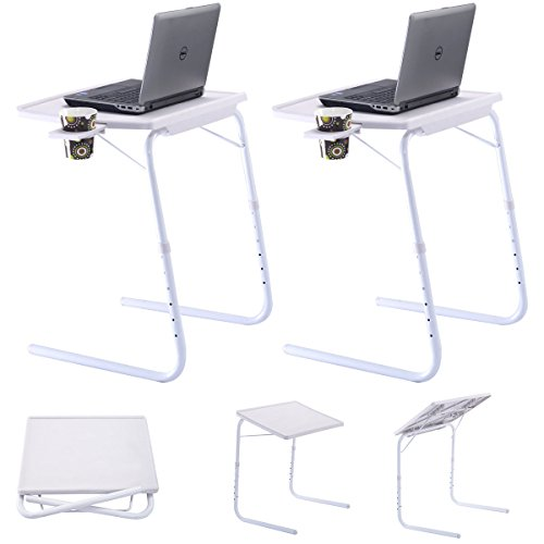 Adjustable Laptop Desk Office White