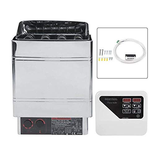 Caredy Sauna Stove, Sauna Heater 9KW Stainless Steel Electric Sauna Heater Stove Sauna SPA Heater Stove 4 Digital Controller+ High Temperature Protection Switch(US Standard 240V)
