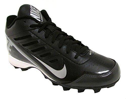 Nike Boys Black/Metallic Silver Land Shark 3/4 Football Cleat US 4.5Y