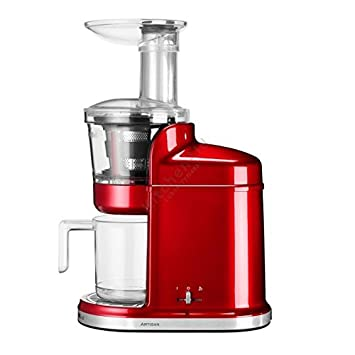 KitchenAid 5KVJ0111ECA - Exprimidor eléctrico, 80 RPM, 250 W, color rojo: Amazon.es: Hogar