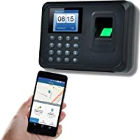 Ti-power Reloj checador de Huella Digital, Registro de entradas y Salidas, Compatible con App para Celular, 500 Huellas