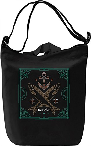 Fresh fish Borsa Giornaliera Canvas Canvas Day Bag| 100% Premium Cotton Canvas| DTG Printing|