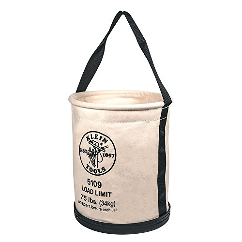 Canvas Bucket Bag - Wide-Opening Straight-Wall Bucket Klein Tools 5109