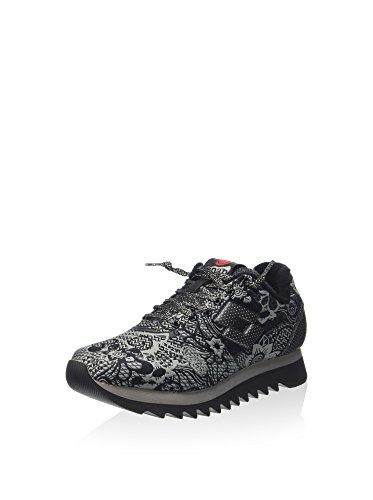 Lotto Leggenda, Donna, Osaka Black Flower Black, Tessuto tecnico, Sneakers, Nero, 39 EU