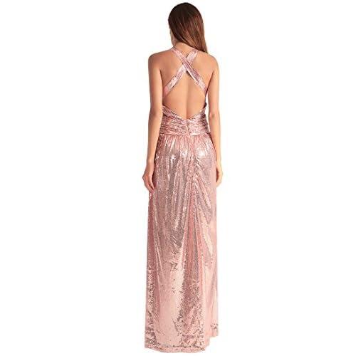3ed46da238b6 Delicado YAO Vestido de fiesta, vestido maxi sin respaldo ...