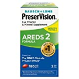 PreserVision AREDS 2 Eye Vitamin & Mineral Supplement with Lutein and Zeaxanthin, Soft Gels, 2Pack (180ct each) EhD&Rh