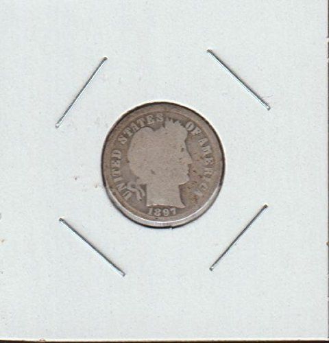 1897 Barber or Liberty Head (1892-1916) Dime Good