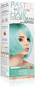 Tinte Coloración Cabello Permanente Pastel Goth Emo elfo menta verde – Pas de amoníaco/hidrógeno