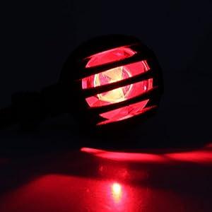2x Amber Motorcycle Black Bullet Front Rear Turn Signal Blinker Indicator Light (Red Lens)